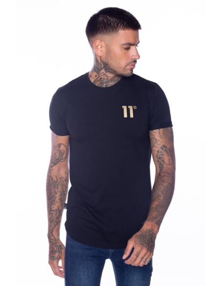 T-Shirt 11 Degrees Core Muscle Fit Black/Gold