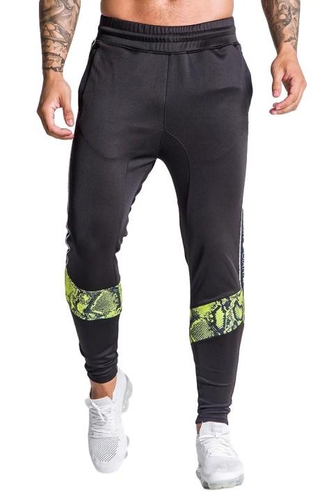 Pantalon de chandal Gianni Kavanagh de serpiente neón negro
