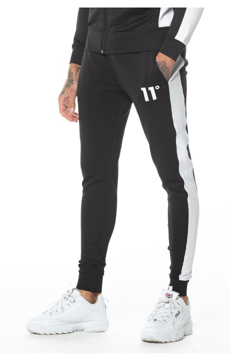 Jogging Bottom 11 Degrees Poly Panel Track Black