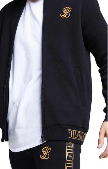 T-shirt Pécheurs Noir avec de l'Or Rose Raglan
