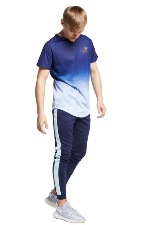 Camiseta SikSilk Esencial con Cuello Alto x Dani Alves Blanco