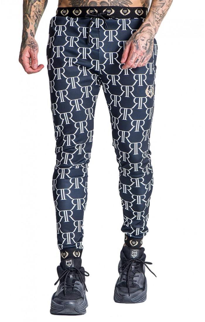 Pantalon Ronne Roman con Estampado de...