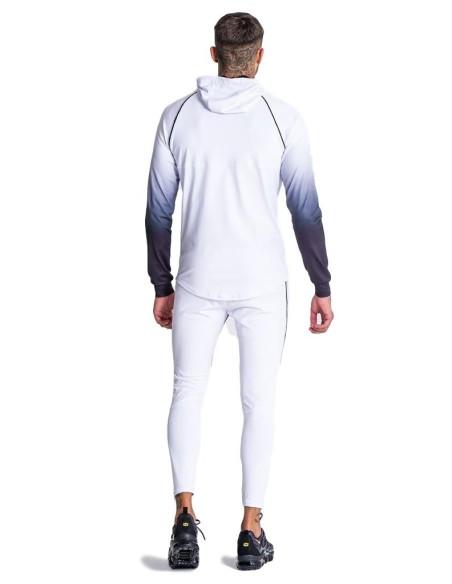Chaqueta Gianni Kavanagh blanca con descolorido mangas negras