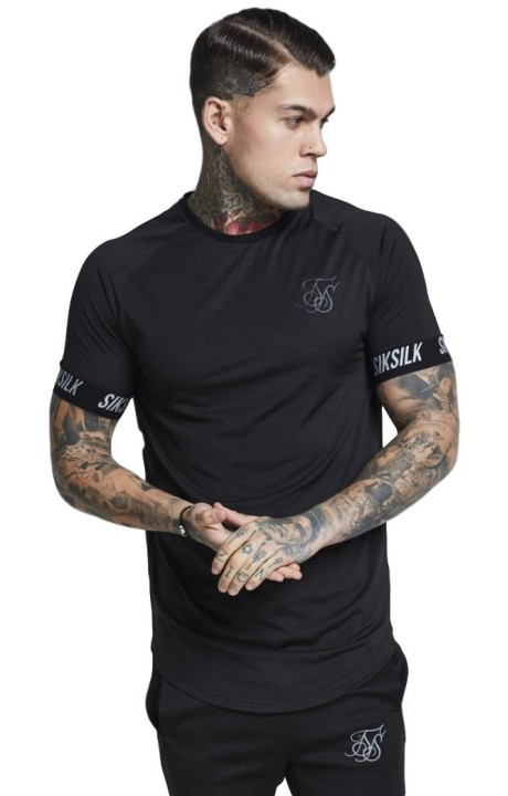 Camiseta SikSilk Tech Negro