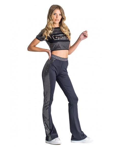 Pants Tracksuit SikSilk Panel Navy Blue